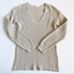 bp ribbed v neck sweater cream small Nordstrom